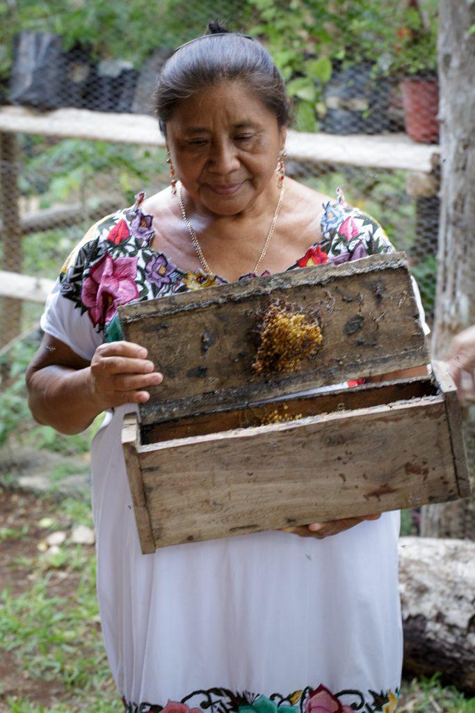 Hermalinda with hive